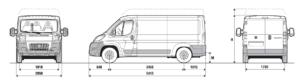 Location Utilitaire 11-13m3 Fiat Ducato Dimensions