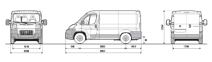 Location Fiat Ducato 8-9m3 Dimensions